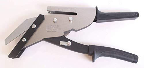 myMAW Profi Schieferschere 35 mm aus Edelstahl mit Locher Schiefer Eternit Schere Faserzement Premium Dachdecker