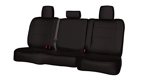 Rear SEAT: ShearComfort Custom Waterproof Cordura Seat Covers for Ford Explorer (2020-2021) in Black for Buckets w/Adjustable Headrests and Inner Arms