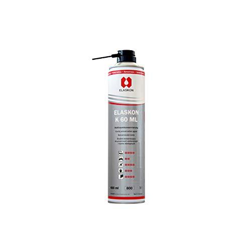 ELASKON K 60 ML Korrosionsschutz-Spray/Rostlöser-Spray für ihre Fahrzeuge/Unterbodenschutz-Spray gegen Korrosion und Steinschläge/Hohlraumversiegelung von Fahrzeugen (1 x 600ml Aerosoldose)