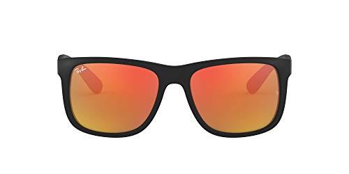 Rayban Justin RB4165 - Gafas de sol Unisex, Negro (Rojo 622/6Q), 55 mm