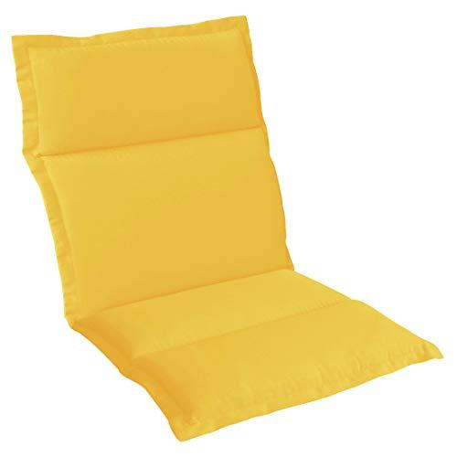 OUTLIV. Polsterauflage Stapelsessel-Auflage Sitz- Rückenkissen 108x50x5 cm Gelb Sitzauflage für Gartensessel und Gartenstuhl
