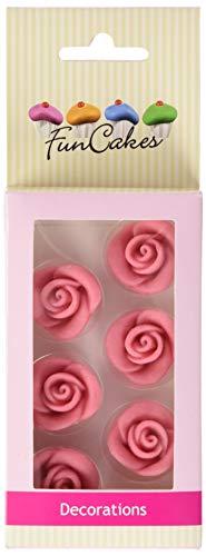 FunCakes Marzipan Dekorationen Rosen Rosa Set/6, 51 g