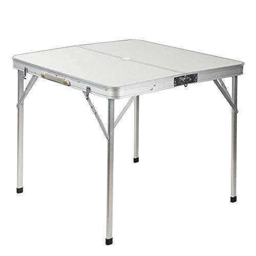 Klappbarer Camping-Tisch, Picknicktisch aus Aluminiumlegierung, geteilter Mahjong-Klapptisch, feuerfester Koffer-Klapptisch mit hoher Tragfähigkeit für Picknick-Strand im Freien