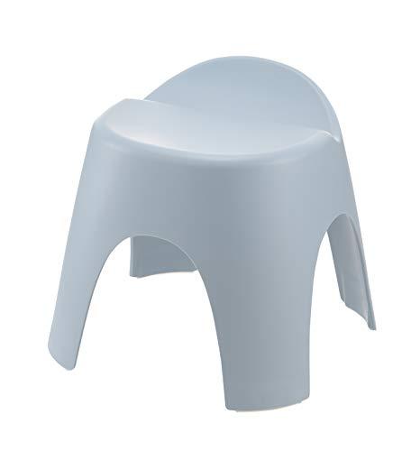 リッチェル バスチェア ブルー 座面高さ30cm 風呂椅子 アライス腰かけ_背もたれ付_乾きやすい_日本製 抗菌加工