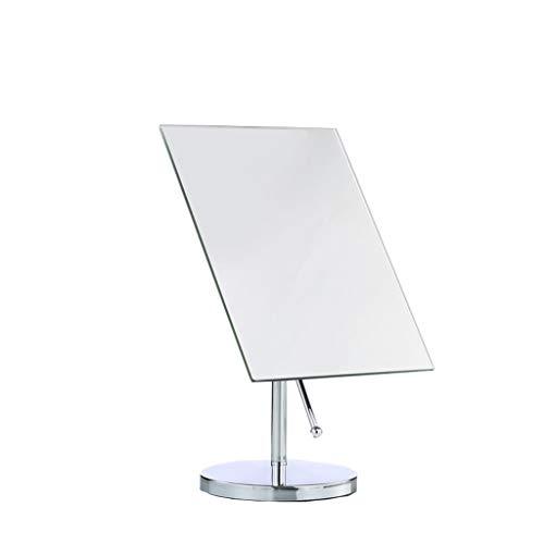 Zdong-Spiegel Herrenkosmetikspiegel, rechteckig, High Definition Desktop Mirror 360 ° Spin Badezimmerspiegel Randlos wasserdichte Verfassungs-Spiegel Haushal (Size : 30 * 18CM)