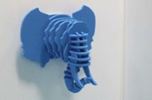 Puzzle Silicone Effet Trophée 3 D Design Eléphant Bleu