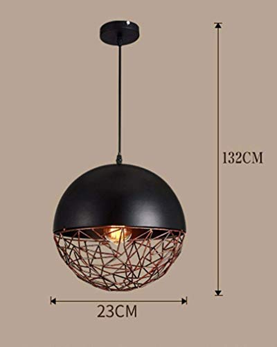 Plafondlamp industriële kroonluchter in retro stijl ijzer metalen kroonluchter ronde beugel bar restaurant woonkamer E27 lamp in hoogte verstelbaar 60 maximum [Energie Le