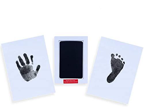 Locisne 3Pack bebé recién nacido Babyprints Safe Handprint o huella Clean-Touch negro almohadilla de tinta, total 6 usos para familia recuerdo Baby Shower Regalo y Regalo