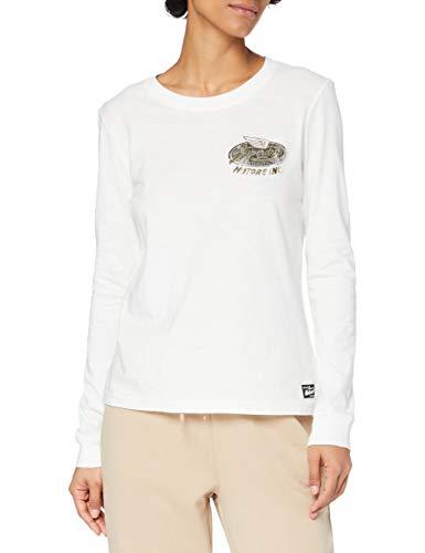 Superdry RW Classic Foil L/s tee Camisa, Cream, 8 para Mujer