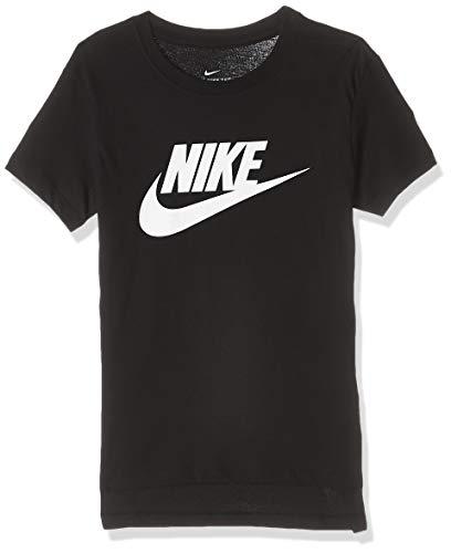 Nike Mädchen T-Shirt G NSW Tee DPTL Basic Futura, Black/(White), L, AR5088