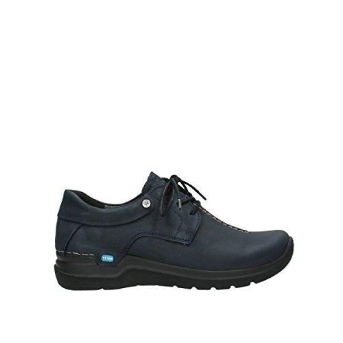 Wolky Comfort Schnürschuhe Wasco - 11800 blau Nubukleder - 40