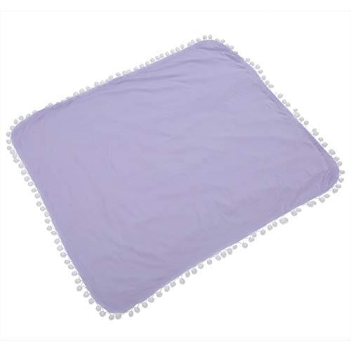 Bequemes Wickeltuch für Säuglinge Babyempfangsdecke Umweltfreundlich für den Sommer 87 x 77 cm / 34,3 x 30,3 Zoll(Light purple, 87 * 77cm)