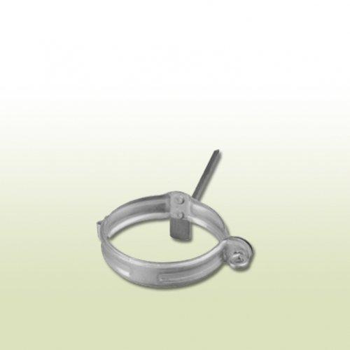 Verzinkte Fallrohrschelle DN 100 mit Schlagstift 200 mm