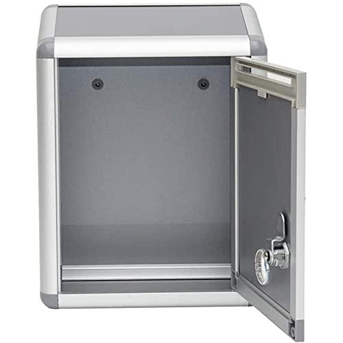 OMVOVSO Briefkasten Multifunktionsbox Ohne Kasten Vorschlagskasten Aus Aluminiumlegierung Vorschlagskasten Reklamationskasten Wandpostkasten,Grau