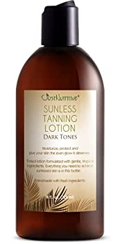 Sunless Tanning Lotion Dark Tones   Indoor Self- Tanner   Dark Tanning Lotion   Body Tanning Lotion   Sun Kiss Glow   Self-Tanning Lotion with Bronzer   Just Nutritive   8 Oz