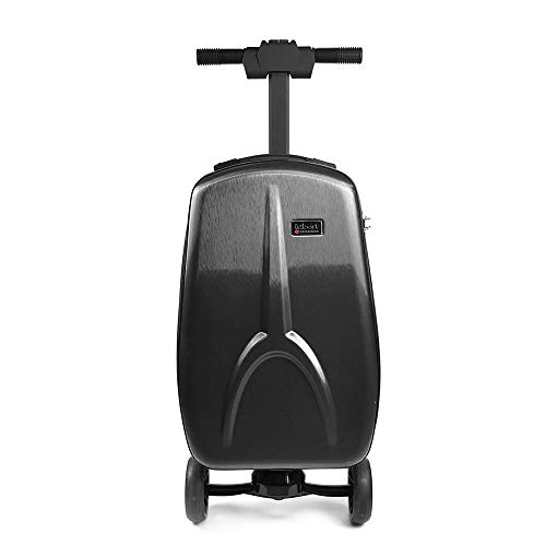 Electric Scooter Suitcase, Trolley Suitcase, Business Box Flight Attendant Boarding, 265ib Load Capacity 15km/h, 20° Climbing Life 12 Km, Black,Black