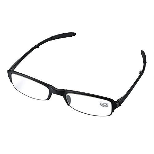 Aroncent Lesebrille schwarz in verschiedenen Stärken, Lesehilfe Sehhilfe Augenoptik Halbrand Halbrandbrille Brille für Damen Herren +3.00
