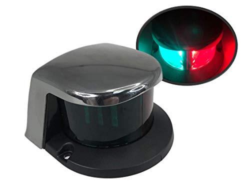 PactradeMarine LED Navegación Rojo Verde SS304 Vivienda Bi-Color Arco Luz 2 NM