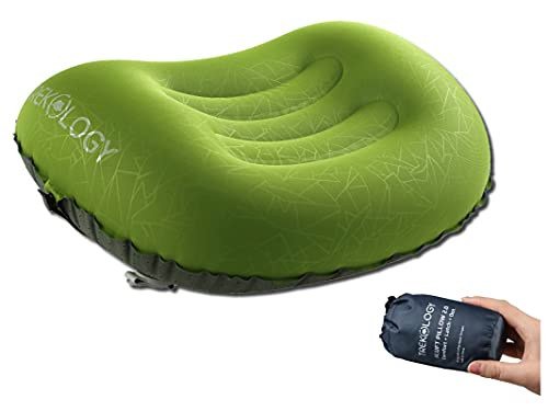 Trekology Aluft 2.0 Ultralight aufblasbares Reise Camping Kissen, komprimierbar, kompakt,...