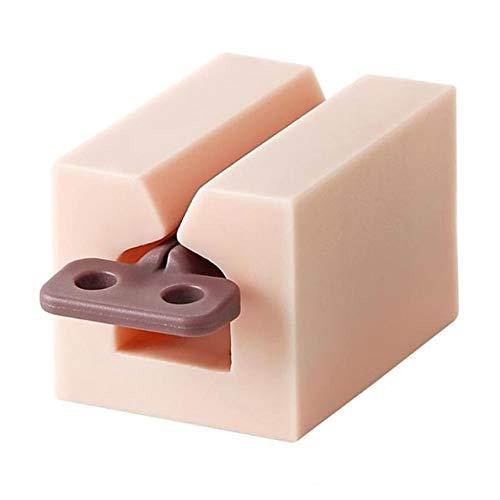 Accesorios de baño Tubo exprimidor de prensa del sostenedor del soporte multifuncional tubo de crema de dientes exprimidor de plástico Pegar dispensador Fácil de usar (Color : C)
