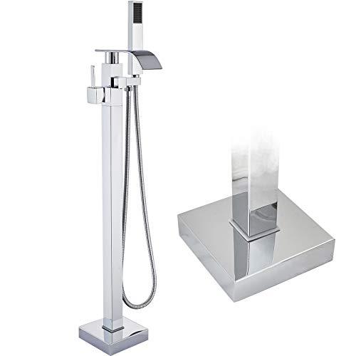 Suguword Antik Messing Freistehende Badewanne Wasserhahn Wanne Mischbatterie Handbrause Badezimmer Dusche Set Wasserhahn