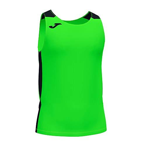 Joma Camiseta Tirantes Record II Verde flúor Negro