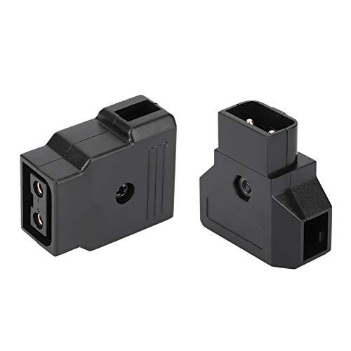 Gedourain Cable de alimentación D-Tap, D-Tap B-Type Juego de enchufes Macho Hembra Tamaño Compacto y Ligero Buena Resistencia al Calor con Clavija de ubicación para videocámara para cámara Anton