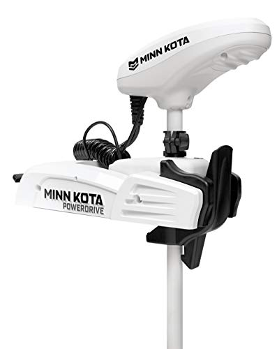 Minn Kota Riptide Powerdrive with Copilot Saltwater Bow-Mount Trolling Motor, 55/CP/48-Inch Shaft, White