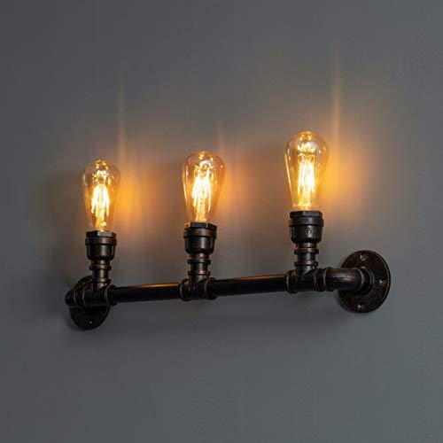KOSILUM - Applique industrielle 3 lumières large 64 cm - Jupiter - Lumière Blanc Chaud Eclairage Salon Chambre Cuisine Couloir - 3 x 40W - - E27 - IP20