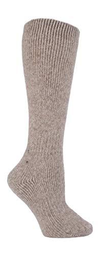HEAT HOLDERS - Mujer 2.7 Tog Invierno Gordos Altos Termicos Lana Calcetines (37/42, Oatmeal Beige (XL.Wool))