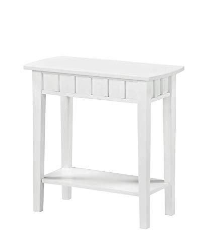 Convenience Concepts - Tavolino Dennis, colore: Bianco
