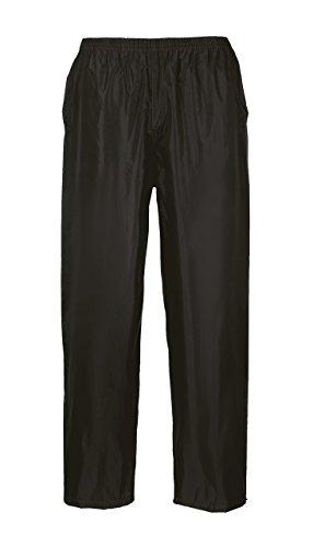 Portwest S441 - Portwest Pantalón de lluvia, color Negro, talla Medium