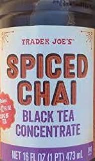 Trader Joe's Spiced Chai Black Tea Concentrated 16 FL oz (Case of 8)