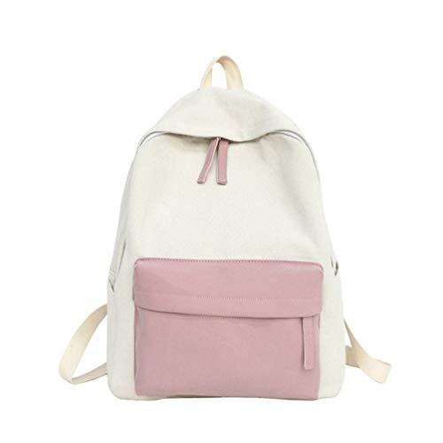 VHVCX Frauen Rucksäcke der koreanische Art neue Patchwork-Segeltuch-Rucksack-Schule Reisetaschen für Teenager-Laptop-Tasche