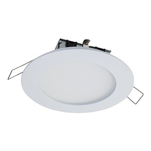 """HALO SMD4R6927WHDM SMD 4"""" Integrated LED Recessed Round Trim Downlight Direct Mount 90 CRI 2700K CCT, White"""