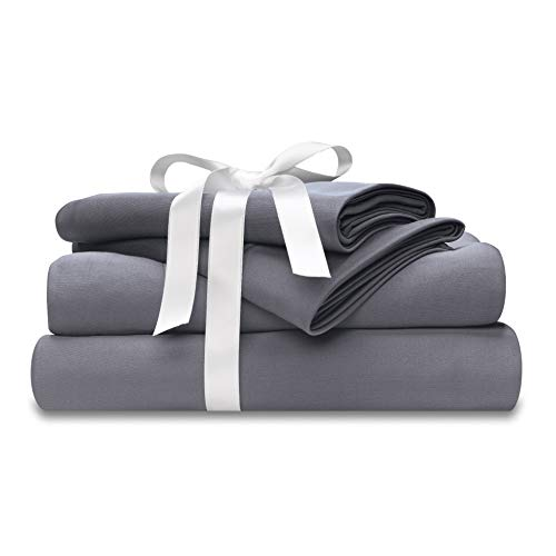Wicked Sheets Moisture-Wicking + Cooling Bed Sheet Set/for Night Sweats & Hot Flashes (King,...