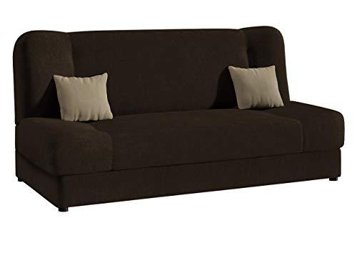 Schlafsofa Jonas Style, Sofa mit Bettkasten und Schlaffunktion, Bettsofa, Schlafcouch, Microfaser, Couch vom Hersteller, Wohnlandschaft (Alova 68 + Alova 68 + Alova 07)
