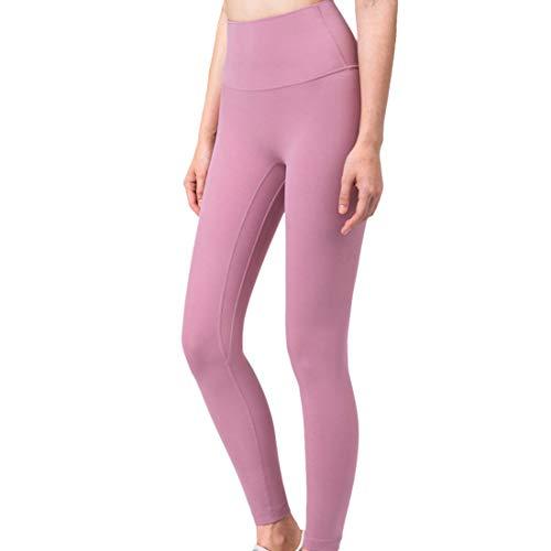 Pantaloni Yoga a Vita Alta Donna Sollevamento dell anca Traspiranti Elasticità Casual Pantaloni Sportivi Comodi Moda Jogging Pantaloni da Fitness Senza Cuciture Streetwear Leggings M