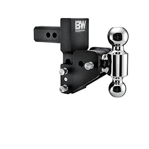 B&W Trailer Hitches MultiPro Tow & Stow - Fits 2  Receiver, Dual Ball (2  x 2-5 16 ), 2.5  Drop, 10,000 GTW -TS10063BMP