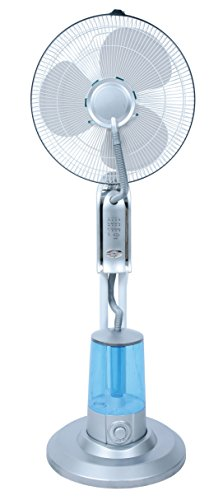 LuxuryGarden Ventilatore Nebulizzatore da Interno ed Esterno, ad Acqua con Telecomando | 3 Litri -Copertura 20 m2 – Autonomia 7 h