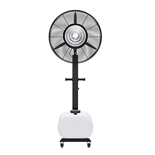 Misting Voetstukventilator Sprayventilator, Hoge Snelheid Metalen Vloer Oscillerende Ventilator Met 65L Grote Watertank Voor Industrieel, Commercieel, Residentieel, Restaurant En Kas