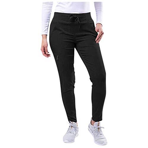 Shinehua Sportbroek voor dames, sweatbroek, trainingsbroek, joggingbroek, slim fit, vrije tijd, lange broek, elastische band sweatpants met ritszakken