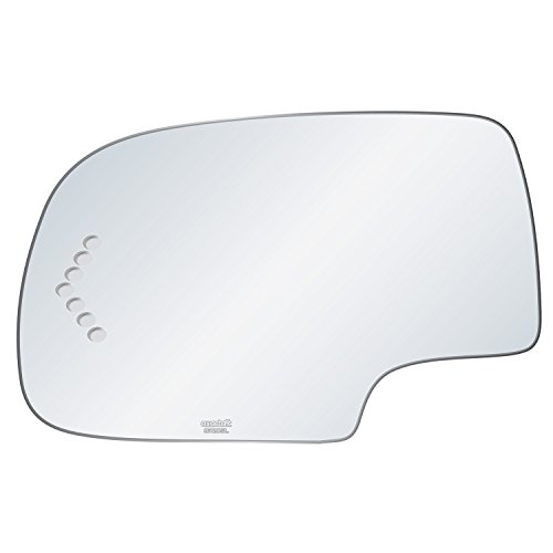 exactafit 8720SL Driver Side Mirror Glass Replacement Plus Signal Chevron And 3m Adhesives Compatible With Cadillac GMC Escalade Avalanche Silverado Tahoe Sierra Yukon Left Hand Door Wing LH