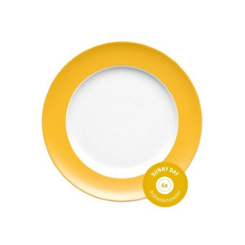 Thomas 10850-408502-28251 Set 6 Frühstücksteller Sunny Day Yellow