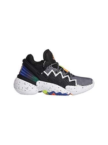adidas D.O.N. Issue 2 J Basketballschuhe, Mehrfarbig (Negbás/Ftwbla/Rojsol), 36 EU