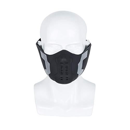 LGYCB Winter Soldier Bucky Mask, Superhero Helmet Avengers Captain America 2 Movie Cosplay Accessori per Costumi di Halloween per Uomini Adulti Fancy Dress,Winter Soldier