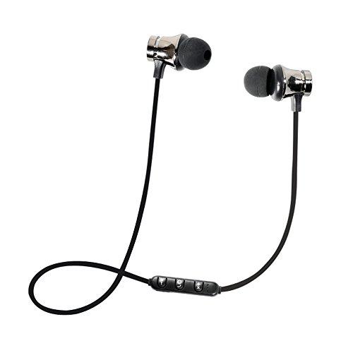 Winwintom Auriculares In-Ear con Microfono,Auriculares Deportivos,Auriculares Bluetooth Inalambricos,De Volumen para iPhone, Samsung Galaxy S9/8/7/6, Huawei, Xiaomi, Pc, iPad, iPod Mp3/Mp4