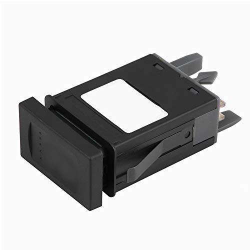 Interruptor de advertência de emergência, Interruptor preto de advertência de perigo de carro, durável para substituição