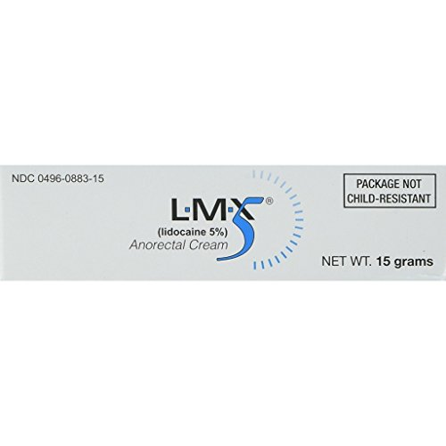LMX5 Lidocaine Pain Relief Cream, 15g Tube