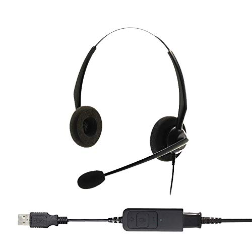 Project Telecom Entry Level Binaural Noise Cancelling USB Headset | Compatible With Acer Nitro